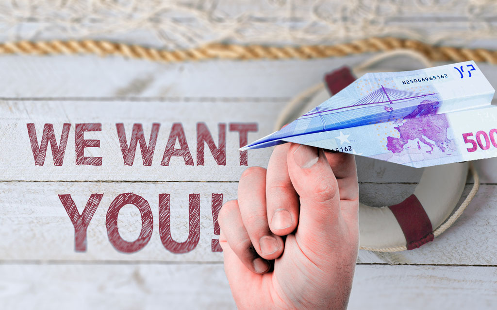 We want you!  EUR 500,- Belohnung für Zolldeklaranten