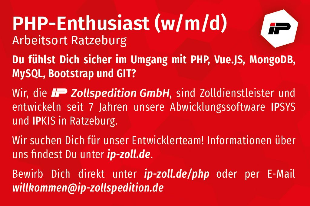 PHP-Enthusiast (w/m/d) gesucht